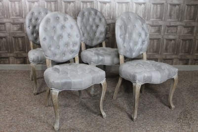 French style upholstered chairs