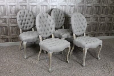 Alice dining chairs with button back