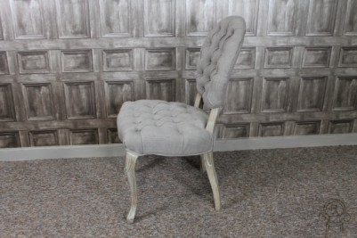 mushroom grey upholstered bedroom chair