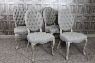 upholstered dining chairs with rounded back