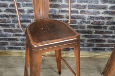 copper coloured bar stool