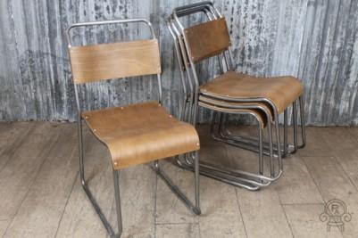 gunmetal stacking chair