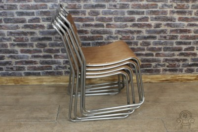 industrial style stacking chair