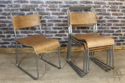 metal framed stacking chair