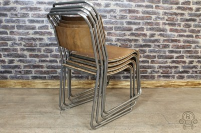 stacking chair with gunmetal frame