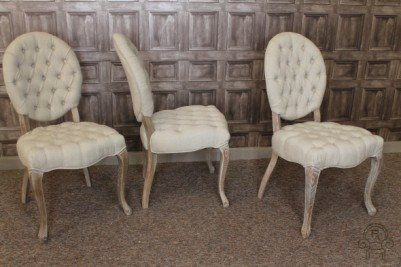 Alice dining chairs in antique linen