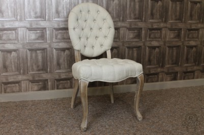 Rococo inspired upholstered chair