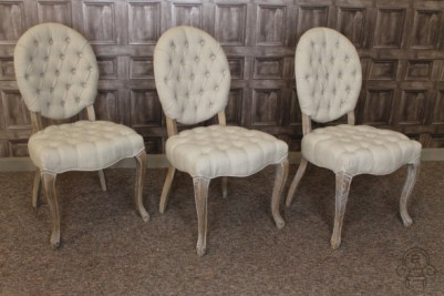upholstered button back dining chair