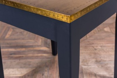 brass top cafe table