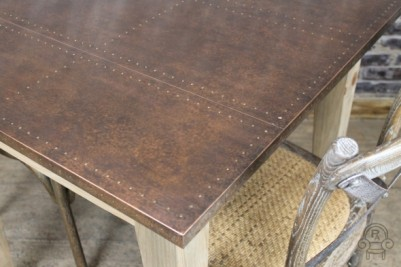 cafe table with copper top