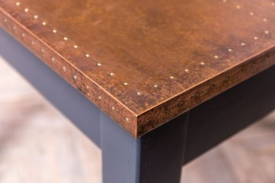 industrial style copper dining furniture