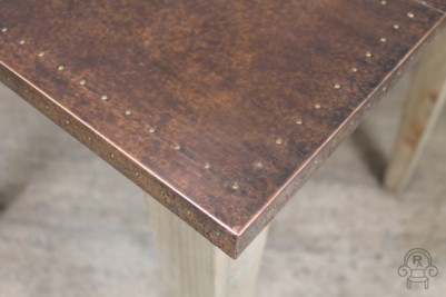 industrial style copper top table