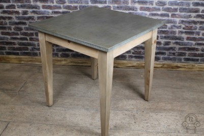 bar table with zinc top