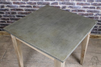 cafe table with zinc top