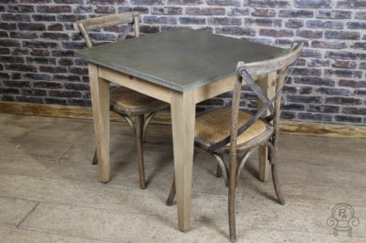 small zinc top table