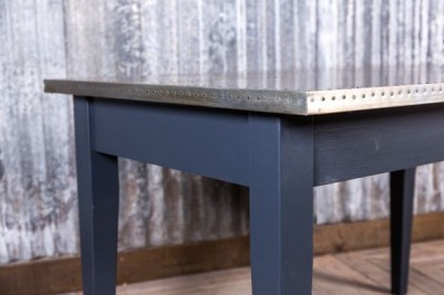 zinc and pine cafe table