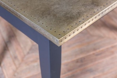 zinc table with painted base