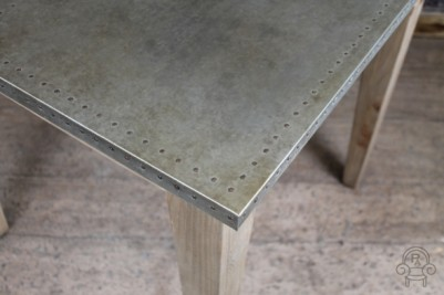 zinc top studded table