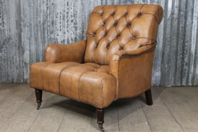 antique style leather chair