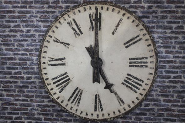 Large Metal Clock Face