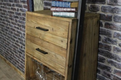 industrial look wine rack storage unit
