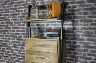 reclaimed timber display unit