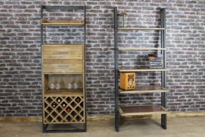 rustic storage wine rack