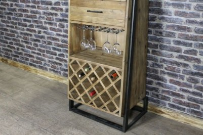 reclaimed timber and steel unit