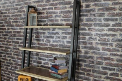 display shelving unit with copper