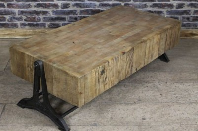 butchers block style coffee table