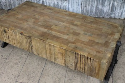 large industrial style coffee table