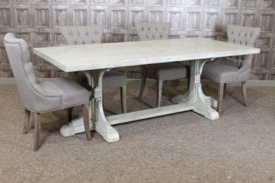 Italian inspired distressed painted table