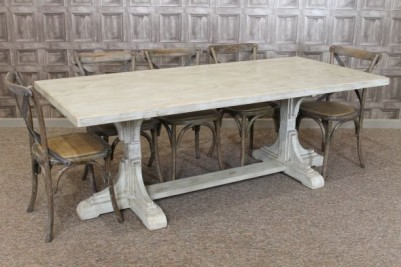 Italian style twin pedestal dining table