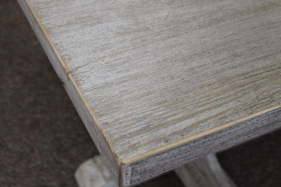 distressed painted pine restaurant table