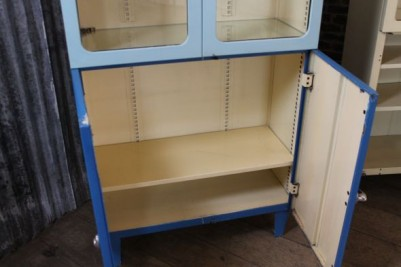 retro 1950s pharmacy cupboards
