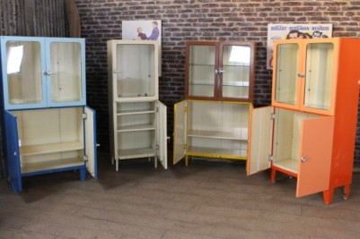 retro colourful display units