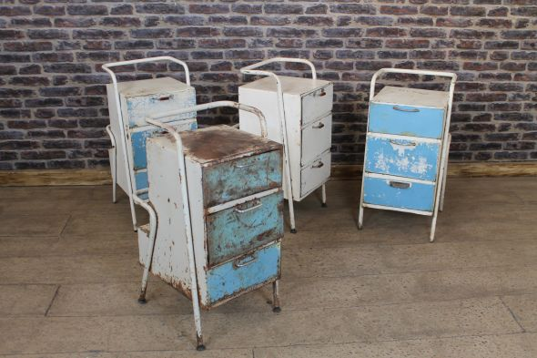 Distressed Metal Cabinets