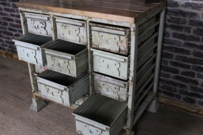 industrial bank of drawers