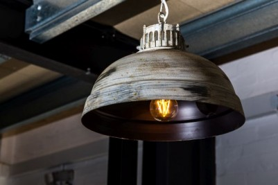 aged metal light fitting
