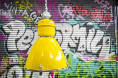 funky coloured industrial lighting