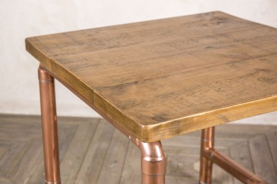 copper pipework restaurant table