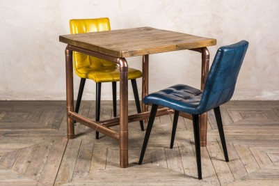 small copper base cafe table