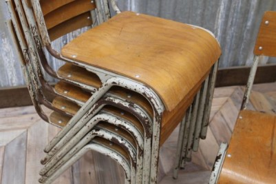 vintage stacking dining chairs