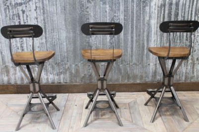 industrial inspired bar stools