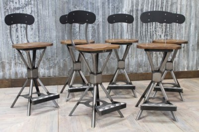 industrial style machinist stool