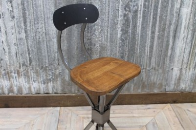 stool with oak seat