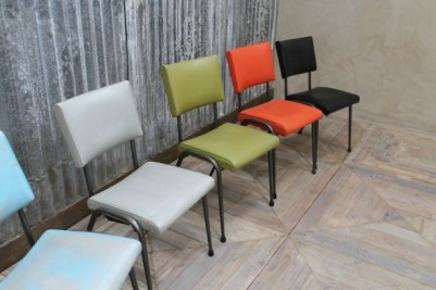 colourful restaurant seating