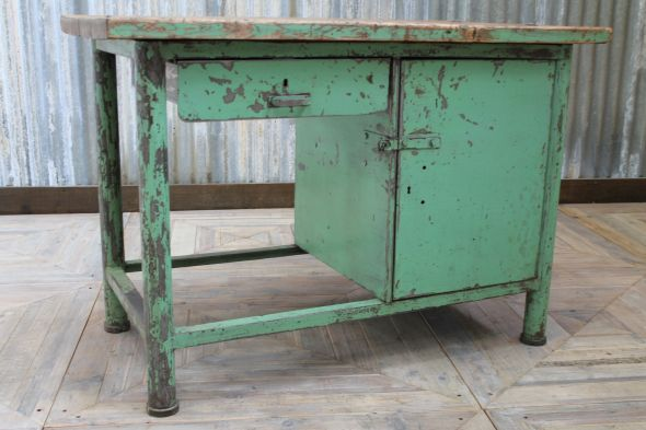 Industrial Metal Workbench Vintage Sideboard Kitchen Island