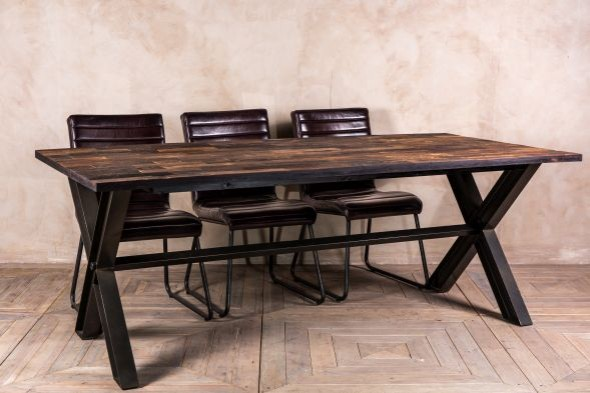 Perth Reclaimed Elm Dining Table - 211cm