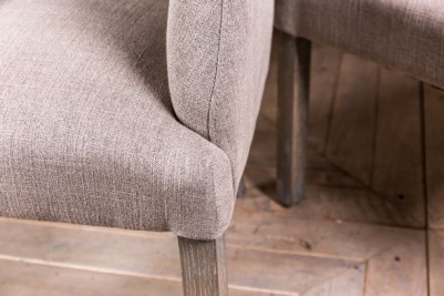 stone upholstered armchair